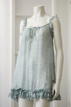 pretty nightwear for women, baby doll nightie, nightwear in hand printed silk, buy online UK, Alice & Astrid nightwear designers