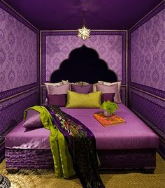 Purple and chartreuse...yes... My new color palette
