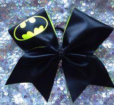 Texas cheer bow.  Batman! by SarahsCheerBows on Etsy https://www.etsy.com/listing/251607716/texas-cheer-bow-batman