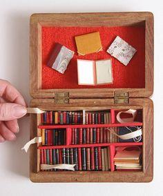miniaturas, mini biblioteca, buena idea.