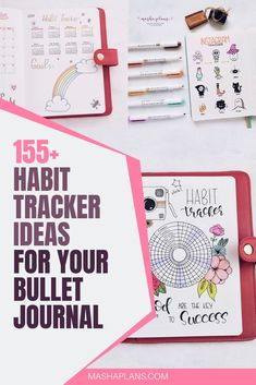 Habit Trackers are some of the most useful Bullet Journal spreads and can help you with anything. Check out these 155 ideas and start getting the most out of your Bullet Journal with habit trackers. Bullet Journal For Beginners, Bullet Journal How To Start A, Bullet Journal Spread, Bullet Journal Layout, Bullet Journal Inspiration, Journal Ideas, Bullet Journal Tracker, Bullet Journal Hacks, Bullet Journal Printables