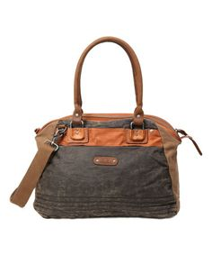 This Brown Tapa Satchel is perfect! #zulilyfinds