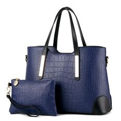 Crocodile Pattern Purse and Handbag