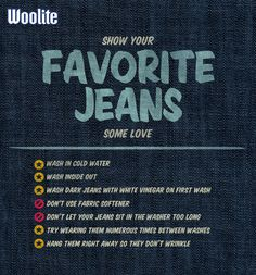 Show your favorite #jeans some love: Denim care #guide for making a great pair last