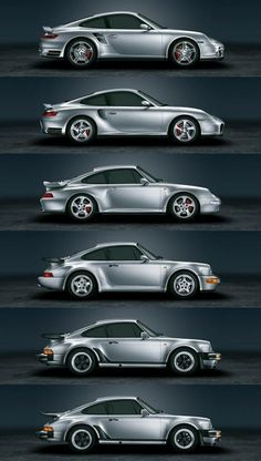 Six Generations of Porsche 911. Best car ever !