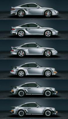 Six Generations of Porsche 911. Best car ever !