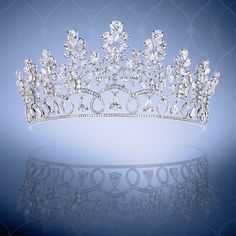 A majestic pear, round and marquise diamond tiara. #diamondtiara #beyondcompare #moussaieffjewellers #magnificentjewels