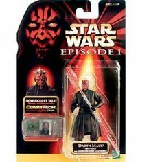 Star Wars Episode 1 CommTech 4 Inch Tall Action Figure - DARTH MAUL (Jedi Duel) with Double Bladed Lightsaber Plus CommTech Chip by Hasbro. $3.70. Produced in year 1998. Includes : DARTH MAUL (Jedi Duel) with Double Bladed Lightsaber Plus CommTech Chip. For age 4 and up. Figure talks when the chip is put on CommTech reader (Sold separately). Figure measured approximately 4 inch tall. Evil personified, Darth Maul has been ordered to destroy Qui-Gon Jinn and Obi-Wa...