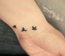 birds on wrist - TATTOO