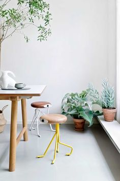 Modern Furniture // wood stools // Companion Stools by Phillip Grass