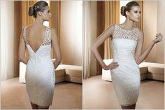 Vestido de noiva curto com Renda