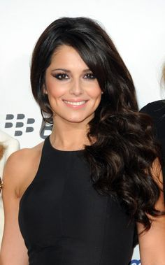 Cheryl Cole - I love a high neck dress and long, flowing hair - So so pretty!!