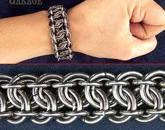 Bracelet barre en acier d'armure léger par SteamPunkGarage