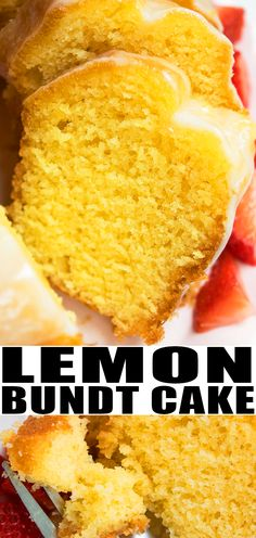 LEMON BUNDT CAKE RECIPE Best quick easy classic old fashioned homemade with simple ingredients Starts off with yellow cake mix box Loaded with cream cheese or sour cream. Köstliche Desserts, Lemon Desserts, Lemon Recipes, Dessert Recipes, Lemon Cake Mixes, Yellow Cake Mixes, Lemon Sour Cream Cake, Dessert Simple, Easy Lemon Bundt Cake Recipe