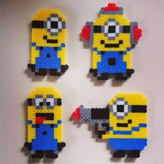 Minions perler fuse beads by vimalai21