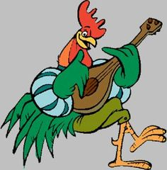 Image result for rooster playing guitar Disney Pixar, Disney Cartoon Characters, Disney Fan Art, Disney Cartoons, Disney Magic, Disney Movies, Robin Hood 1973, Bedknobs And Broomsticks, Walter Elias Disney