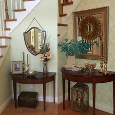 Before and after entryway. A little touch of sophistication.