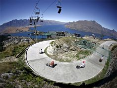 Luge Riding, Queenstown, NZ...missing it!