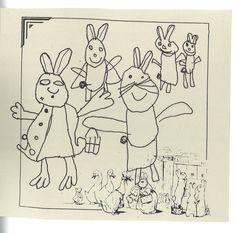 Beatrix Potter in pen and ink by Sofia