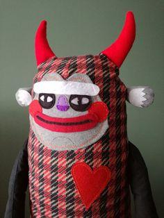 PLUSHIE DEVIL. Cute plushie. Devil toy by HugeHug #plushie #kidstoys #giftideas