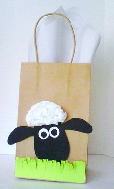 Sheep Theme Favor Bags/ Candy Bags by PAPALOTES on Etsy