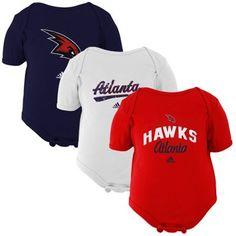 Atlanta Hawks Newborn Slam Dunk 3-Piece Creeper Set