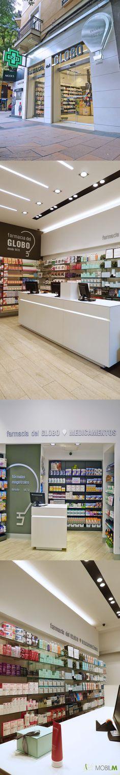 Proyecto Farmacia del Globo Goya 55 - Madrid En nuestra web el reportage completo www.mobil-m.es #farmacia #diseño #arquitectura #lafarmaciareiventada