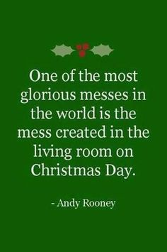 Christmas mess...so true. I just love Christmas! Especially watching my daughter rip open her gifts and watching her beautiful smile light up!