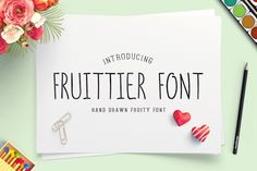 Fruittier Thin Font by@Graphicsauthor