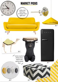 How To Decorate With Black and Yellow