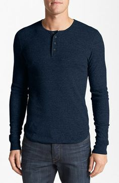 7 For All Mankind® Ribbed Henley available at #Nordstrom