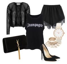 Get ready with an all black outfit and drink some champagne! 21st Birthday Outfits, Birthday Gifts For Her, Birthday Fun, Birthday Shirts, All Black Outfit, Hot Outfits, Ysl, Jimmy Choo, 30th