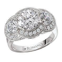 "3 carat diamond engagement ring, triple halo ""Chelsea"" - Gittelson Jewelers - Diamonds In The Skyway"