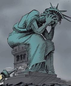 Lady Liberty would be totally distressed and horrified by the outcome of the 2016 election!!