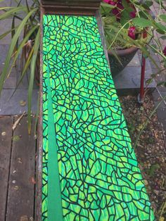 A personal favorite from my Etsy shop https://www.etsy.com/listing/293909443/green-batik-stained-glass-clergy-stole