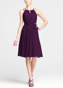 pretty skirt, floating in the breeze  Plum Bridesmaid Dresses by Color by David's Bridal :D