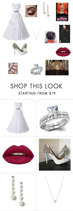 """""""Sam and Seth's wedding"""" by diamond-heart2016 ❤ liked on Polyvore featuring Huda Beauty, Miss Selfridge and Tiffany & Co."""