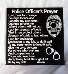 POLICE OFFICERS PRAYER - Policemans Prayer - Police Tribute - Law Enforcement Tribute - Law Enforcement Retirement - Deputy - Sheriff #handmade #gifts