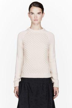 Chloe Pink Bubble Knit Sweater