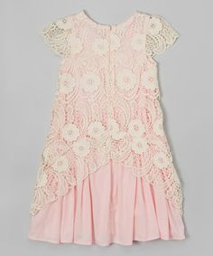 Look at this #zulilyfind! Pink Crochet Dress - Toddler & Girls by Frills du Jour #zulilyfinds