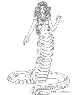 ECHIDNA The Half Woman And Snake Creature Coloring Page This Is Available For Free In
