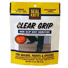 SEAL KRETE® Clear Grip Is A Durable, Micronized Polymeric Aggregate  Developed For Use As An Anti Skid Additive To Floor Paint Or Sealers.