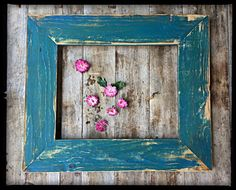 rustic decor distressed teal picture frame handmade painted frame wall decor usd by menasrusticdecor