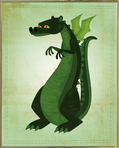 'Green Dragon' Graphic Art Print
