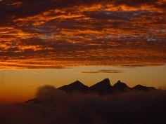 Sunrise at Cerro de la Silla, Monterrey, Nuevo León_ Northeast Mexico