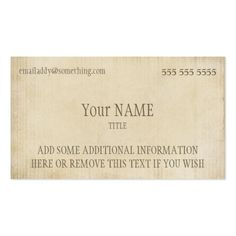 Vintage craft rustic modern kraft paper look business card vintage vintage parchment business card reheart Image collections