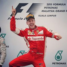 """Drivers & teams were asked by formula1.com to pick their best race of 2015.  Sebastian Vettel has picked Malaysia - the race where he got his first win for Ferrari.  Link to the video on our twitter page:  twitter.com/sebvettelnews  #SebastianVettel #Vettel #SebVettel #SV5 #Seb5 #ForzaSeb #Ferrari #ScuderiaFerrari #ForzaFerrari #RedSeason #F12015 #F1 #Formula1 #prancinghorse"" Photo taken by @sebvettelnews on Instagram, pinned via the InstaPin iOS App! http://www.instapinapp.com (12/10/2015)"
