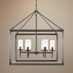 """Smyth 26 3/4"""" Wide Gunmetal Bronze Cage Chandelier - $433 each - get two for over the island - LOVE"""