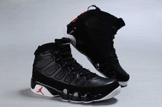 2c7d3895bcc Nike Air Jordan 9 Mens Black White Shoes Air Jordan 9, Black And White Man