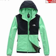 The North Face Womens Denali Hoodie Jacket Green [Green North... via Polyvore